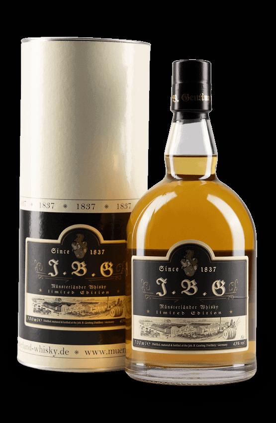 J.B.G Münsterländer Whisky 5 Jahre – Limitiert auf 300 Flaschen.