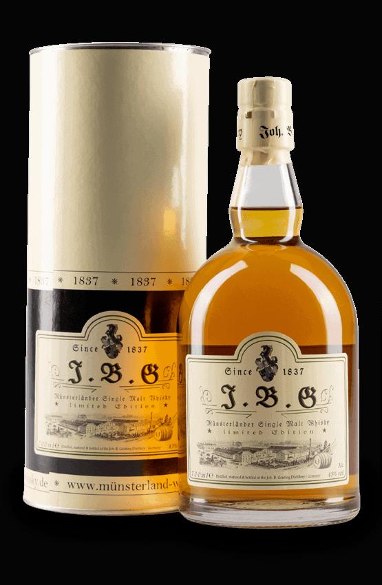 J.B.G Münsterländer Single Malt Whisky ex. Bourbon Barrels.